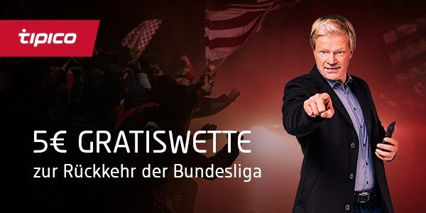 Tipico 5 Euro Gratiswette Bundesliga Start